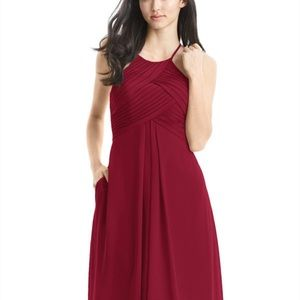 "Azazie burgundy  ""Adrianna"" bridesmaid dress"